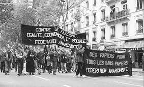Manifestation contre les accords Millon-FN
